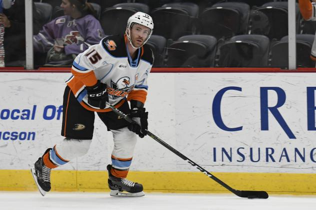 Forward Ben Street with the San Diego Gulls