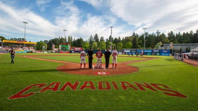 Pre-game with the Vancouver Canadians