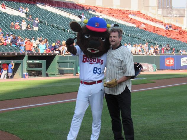 Dwier Brown at the Buffalo Bisons game