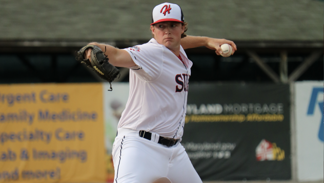 Christian Vann escaped a bases-loaded jam in the 11th and picked up his first victory in the Hagerstown Suns' 3-2 walk-off win Wednesday