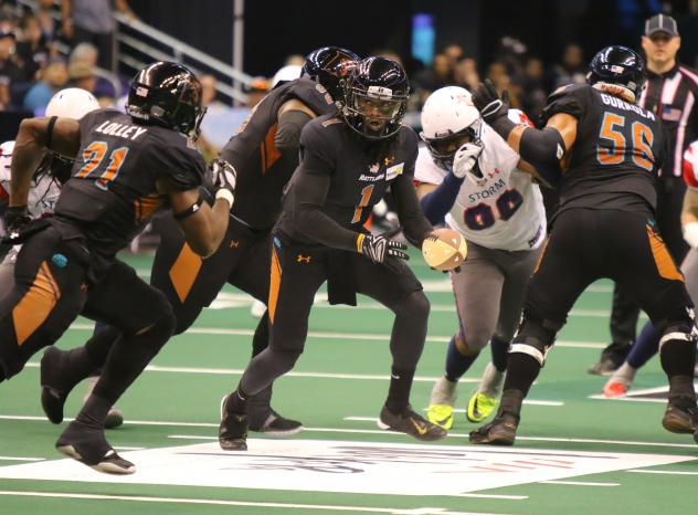 The Arizona Rattlers offense operates against the Sioux Falls Storm
