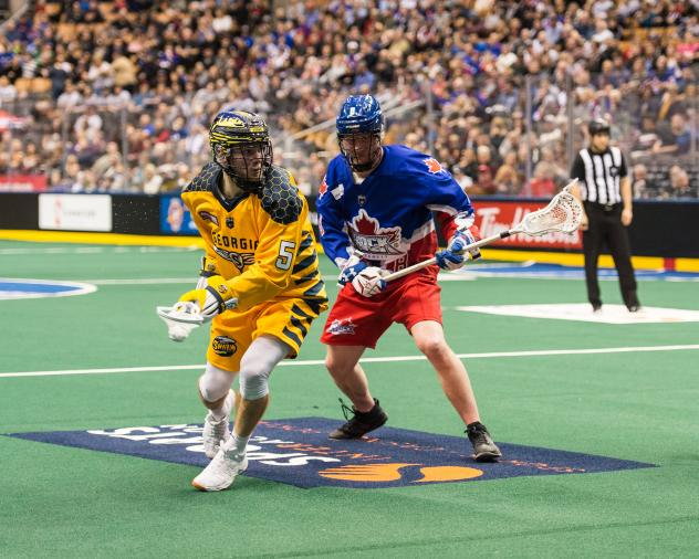 Joel Tinney with the Georgia Swarm vs. the Toronto Rock