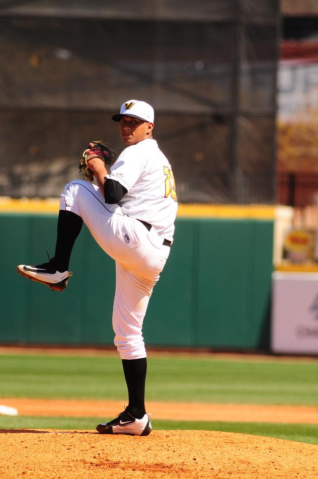 Pitcher Luis Escobar with the West Virginia Power