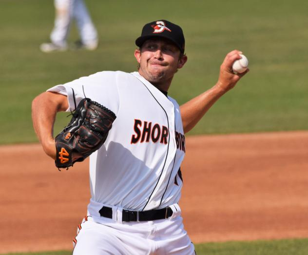 Delmarva Shorebirds pitcher Ryan Wilson