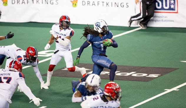 Baltimore Brigade defensive back Joe Powell against the Washington Valor