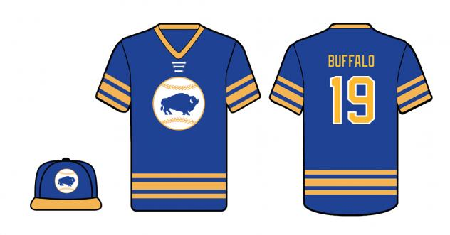 Buffalo Bisons 'Hockey Night at the Ballpark' jersey and cap