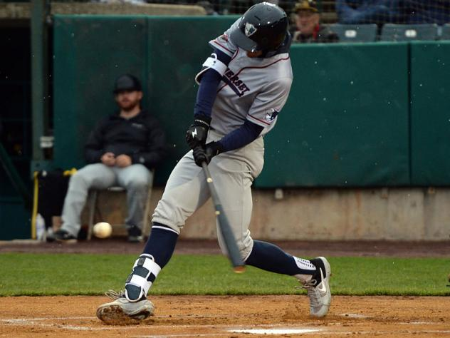 Will Kengor swings away for the Somerset Patriots