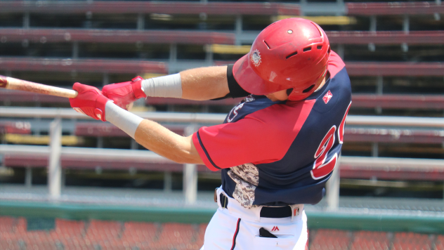 Drew Mendoza of the Hagerstown Suns hit his first professional homer and drove in a career-high five RBI