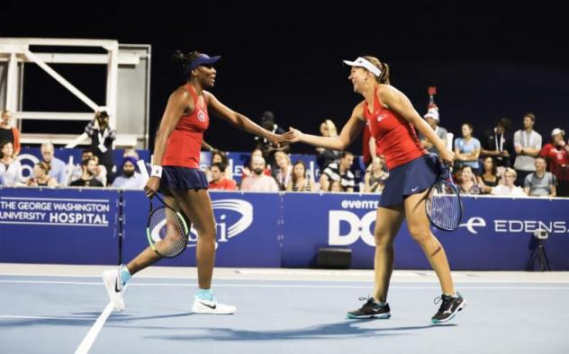 Washington Kastles all-star Nicole Melichar faced tough competition in her first match back in the lineup