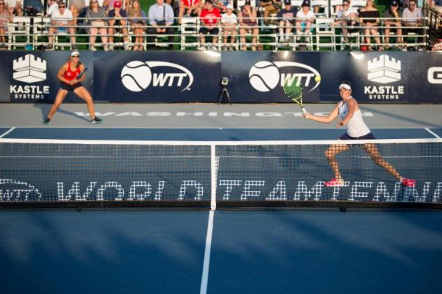 Nicole Melichar and Jennifer Brady of the Washington Kastles