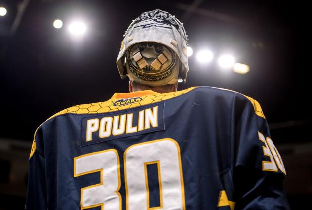 Georgia Swarm goaltender Mike Poulin