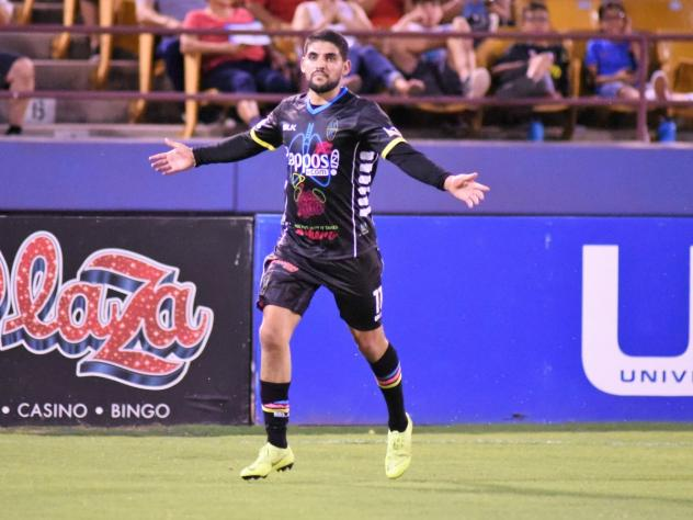 Irvin Raul Parra became the second player in Las Vegas Lights FC history to reach double-digit scoring in a season
