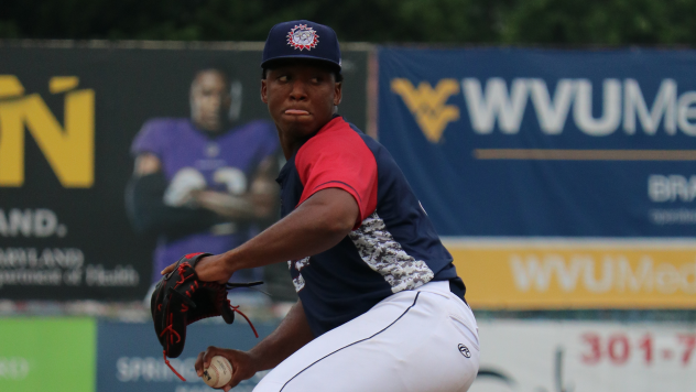 Hagerstown Suns pitcher Joan Adon worked five innings in the win