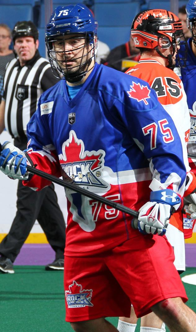 Defenseman Thorimbert with the Toronto Rock