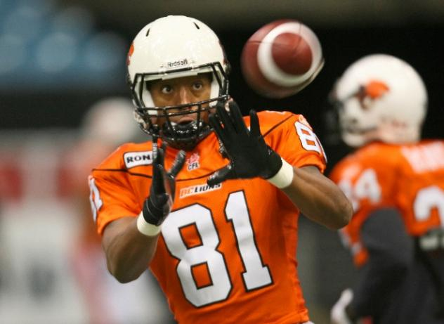 Receiver Geroy Simon with the BC Lions
