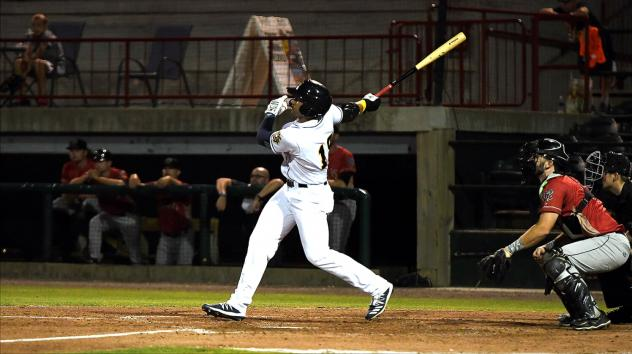 Francisco Del Valle homers for the Burlington Bees