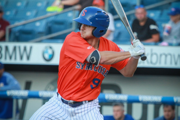 Jason Krizan had a home run and two RBIs for the Syracuse Mets on Wednesday night