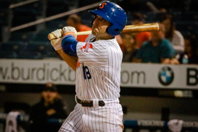Danny Espinosa combined for three hits and three RBIs for the Syracuse Mets during Saturday's doubleheader