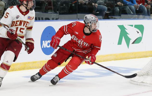 Forward John Wiitala with Ohio State University