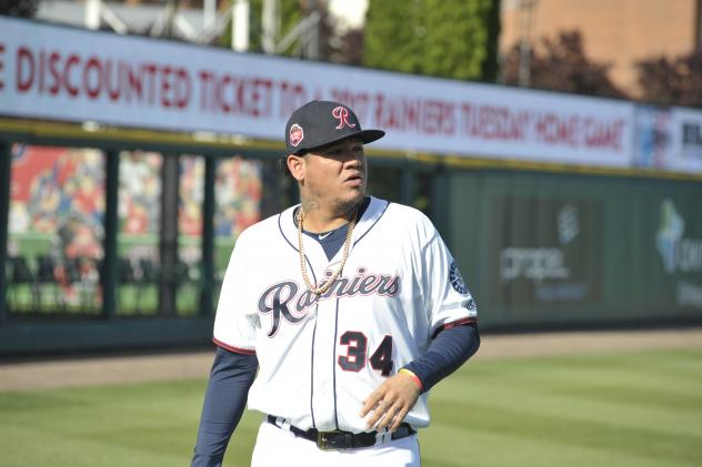 Felix Hernandez with the Tacoma Rainiers