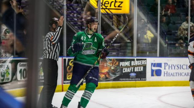 Florida Everblades defenseman Logan Roe