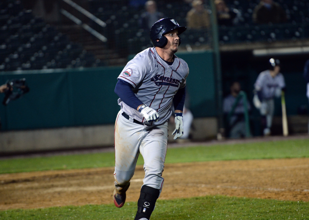 Michael Ohlman of the Somerset Patriots