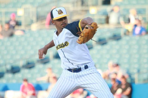 Harol Gonzalez allowed just four hits and one run in seven innings pitched on Friday night for the Syracuse Mets