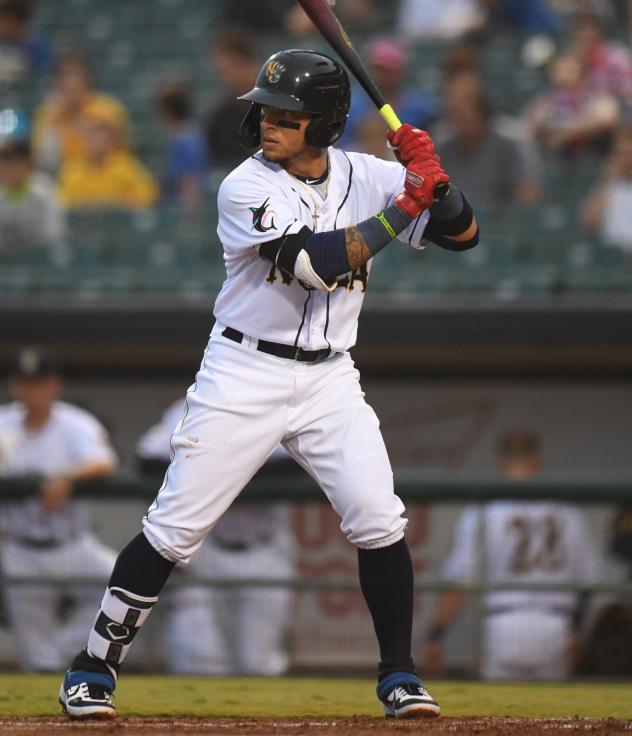 New Orleans Baby Cakes second baseman Isan Diaz