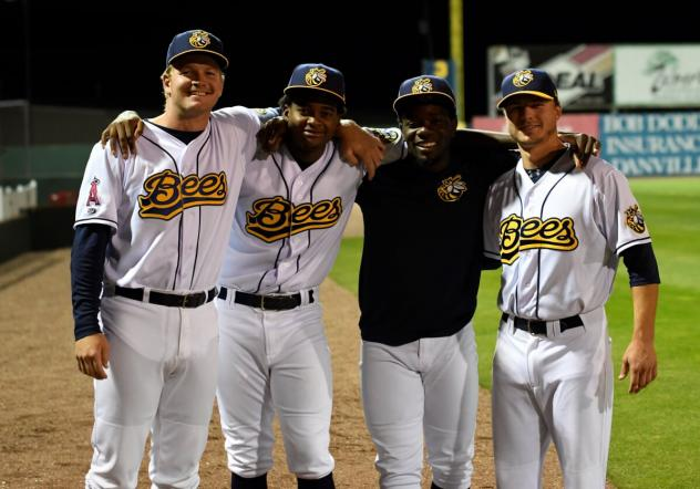Burlington Bees pitchers Parker Joe Robinson, Jose Soriano, Hector Yan and Chad Sykes combined for a no-hitter