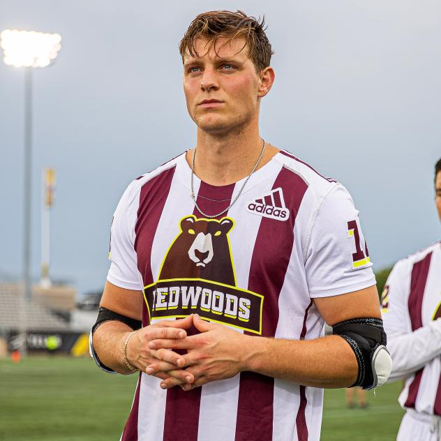 Sergio Perkovic with the Premier Lacrosse League's (PLL) Redwoods