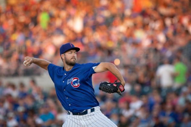 Iowa Cubs pitcher Colin Rea