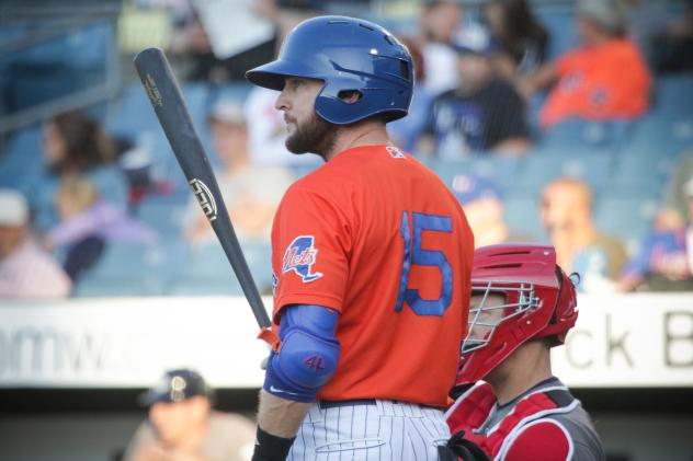 Jed Lowrie walked and homered for the Syracuse Mets on Thursday night