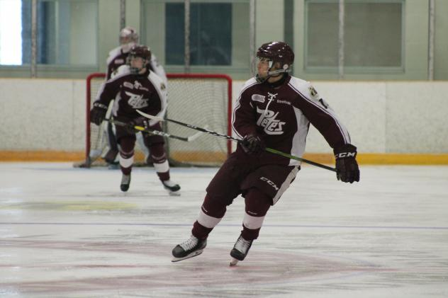 Right Winger Tucker Robertson with the Peterborough Petes