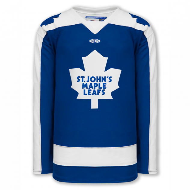 Newfoundland Growlers throwback St. John's Maple Leafs jersey