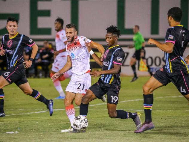 Tabort Etaka Preston scored the last goal for Las Vegas Luces (Lights) FC