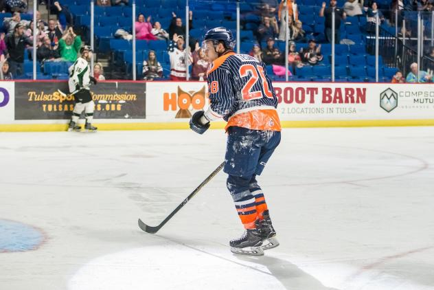 Tulsa Oilers forward Ryan Tesink