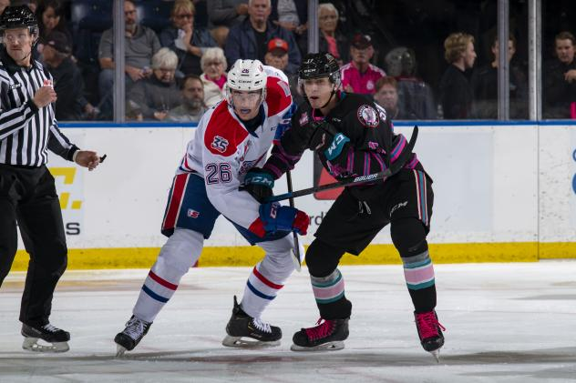 Kelowna Rockets battle the Spokane Chiefs