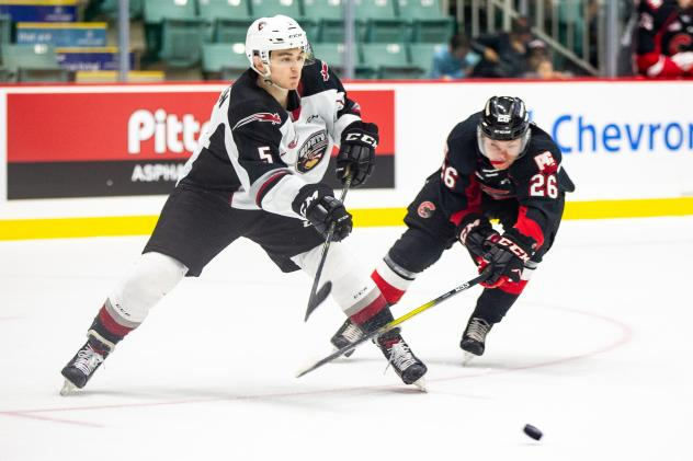 Giants forward Jacob Gendron against the Prince George Cougars