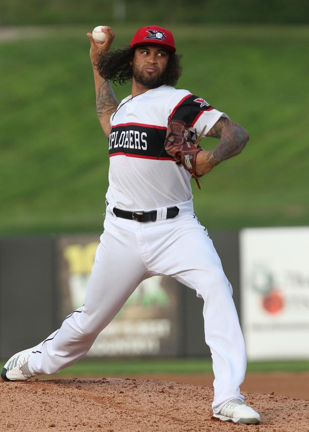 Sioux City Explorers pitcher Pete Tago