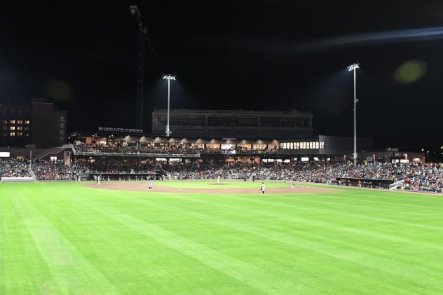 Segra Stadium, home of the Fayetteville Woodpeckers