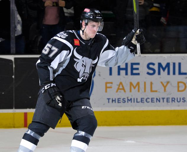 Conner Bleackley with the San Antonio Rampage