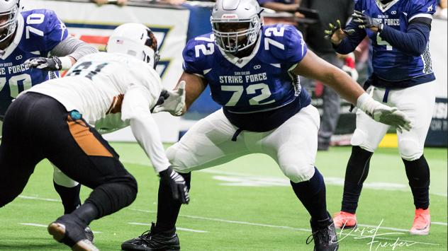 San Diego Strike Force offensive lineman Jonte Berry