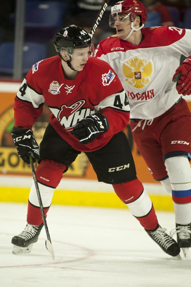 Bowen Byram with Team WHL