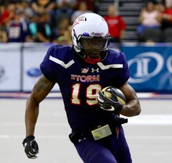 Receiver Kent Shelby with the Sioux Falls Storm