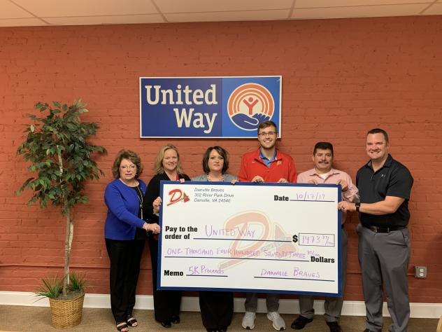 Braves donate to United Way