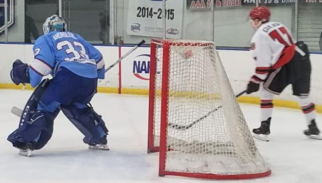 Maine Nordiques goaltender Connor Androlewicz vs. the New Jersey Titans