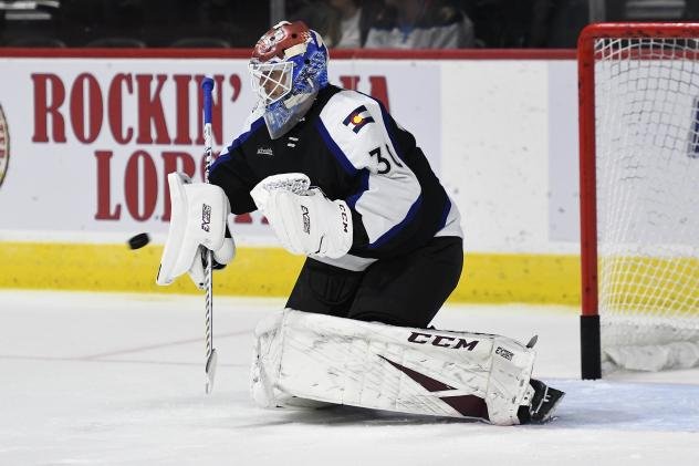 Colorado Eagles goaltender Adam Werner