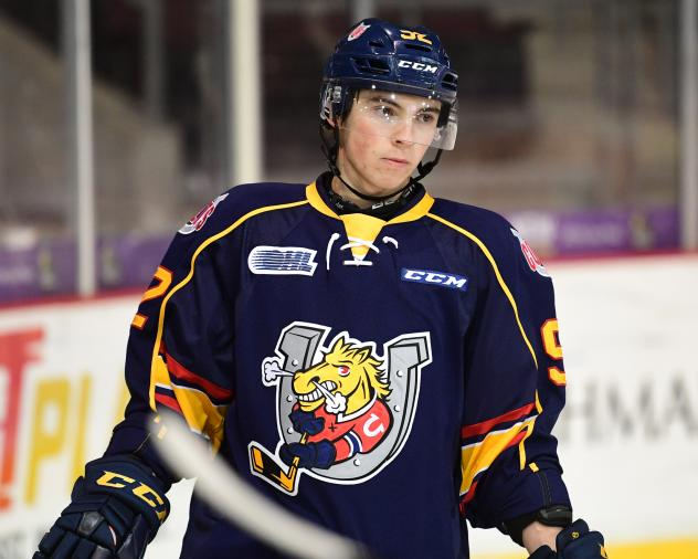 Forward Sam Rhodes with the Barrie Colts