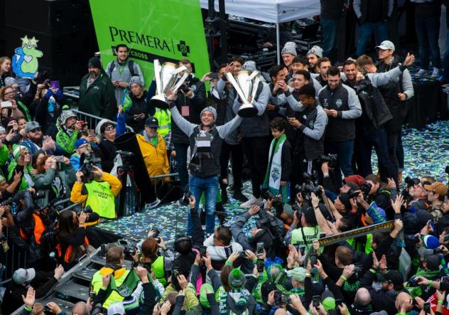 Seattle Sounders FC spent Tuesday celebrating its second MLS Cup Championship with fans