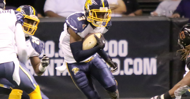 Wide receiver Marquel Wade with the Cedar Rapids River Kings
